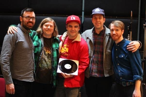 """FUTURE ISLANDS record the track """"The Chase,"""" direct To Vinyl at ABBEY ROAD STUDIOS"""
