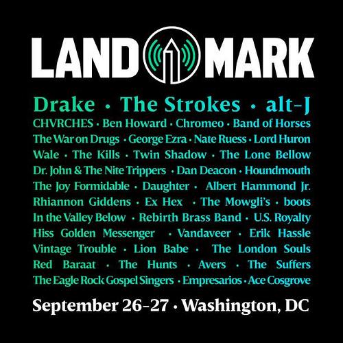 Landmark Music Festival adds TV On The Radio, the fest happens in Washington, DC, September 26-27.