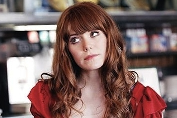 """Jenny Lewis premieres her video for """"She's Not Me."""" Guests in the clip include Fred Armisen."""