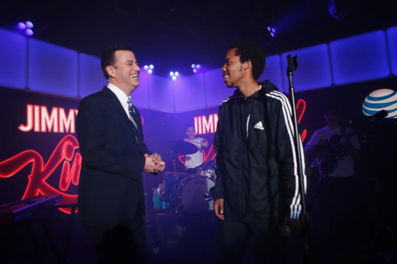 "Watch Earl Sweatshirt and BadBadNotGood perform a medley of ""AM // Radio"" and ""Grief"" on Jimmy Kimmel."
