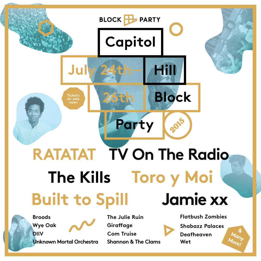 Capitol Hill Block Party 2015 announces final lineup. Bands playing, include Father John Misty and Jamie xx.