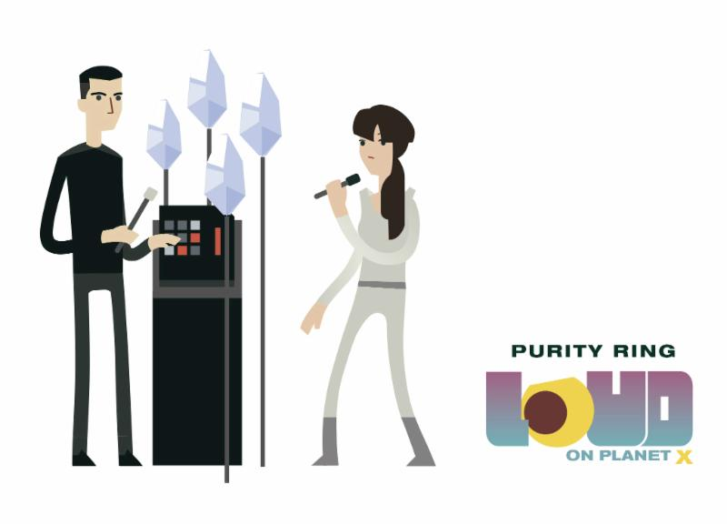 Pop Sandbox announces Purity Ring has been added to The new indie video game 'Loud On Plannet X.'