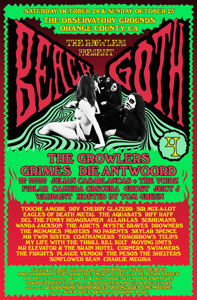 The Growlers Announce Beach Goth 4 Lineup, Featuring Grimes, Julian Casablancas. The festival takes place 10/24-25