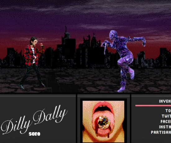 Dilly Dally Stream Sore Album with Video Game