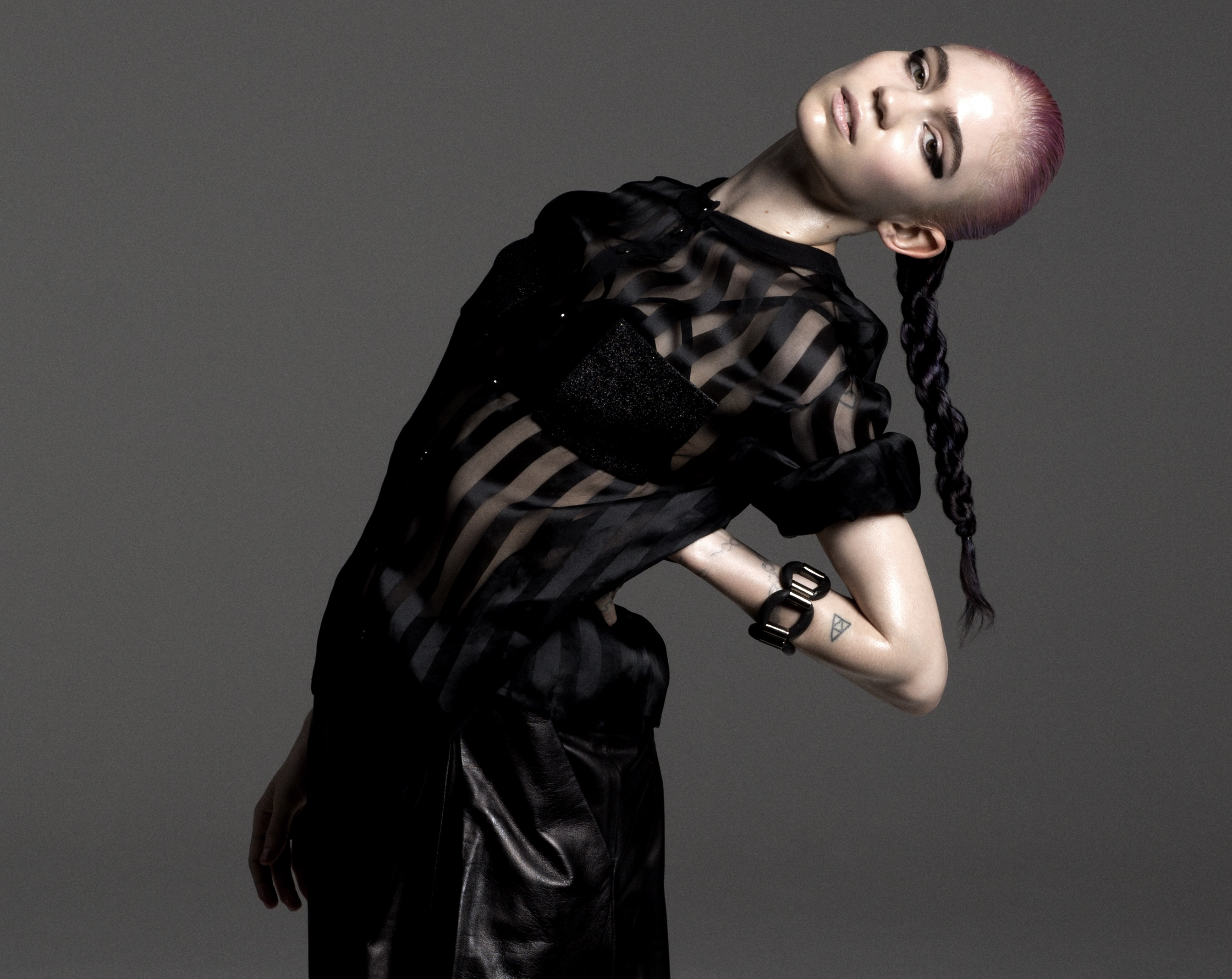 "Today, Grimes released her video for ""Flesh Without Blood / Life in the Vivid Dream"", from Art Angels, out November 6th"