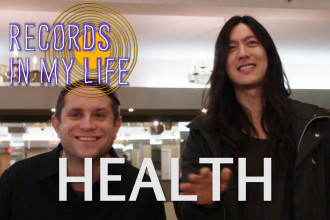Health guests on 'Records in my Life'. Health talk about their favourite records