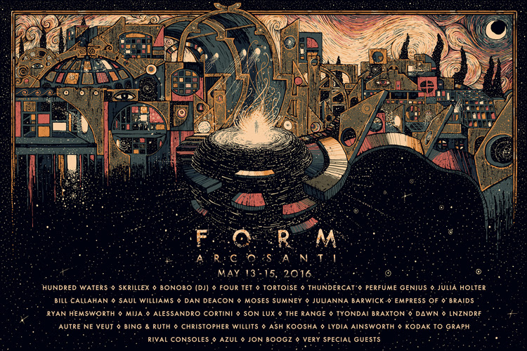 Form Arcosanti Micro Festival announces 2016 lineup, artists taking part include Hundred Waters, Skrillex, Dan Deacon, Perfume Genius