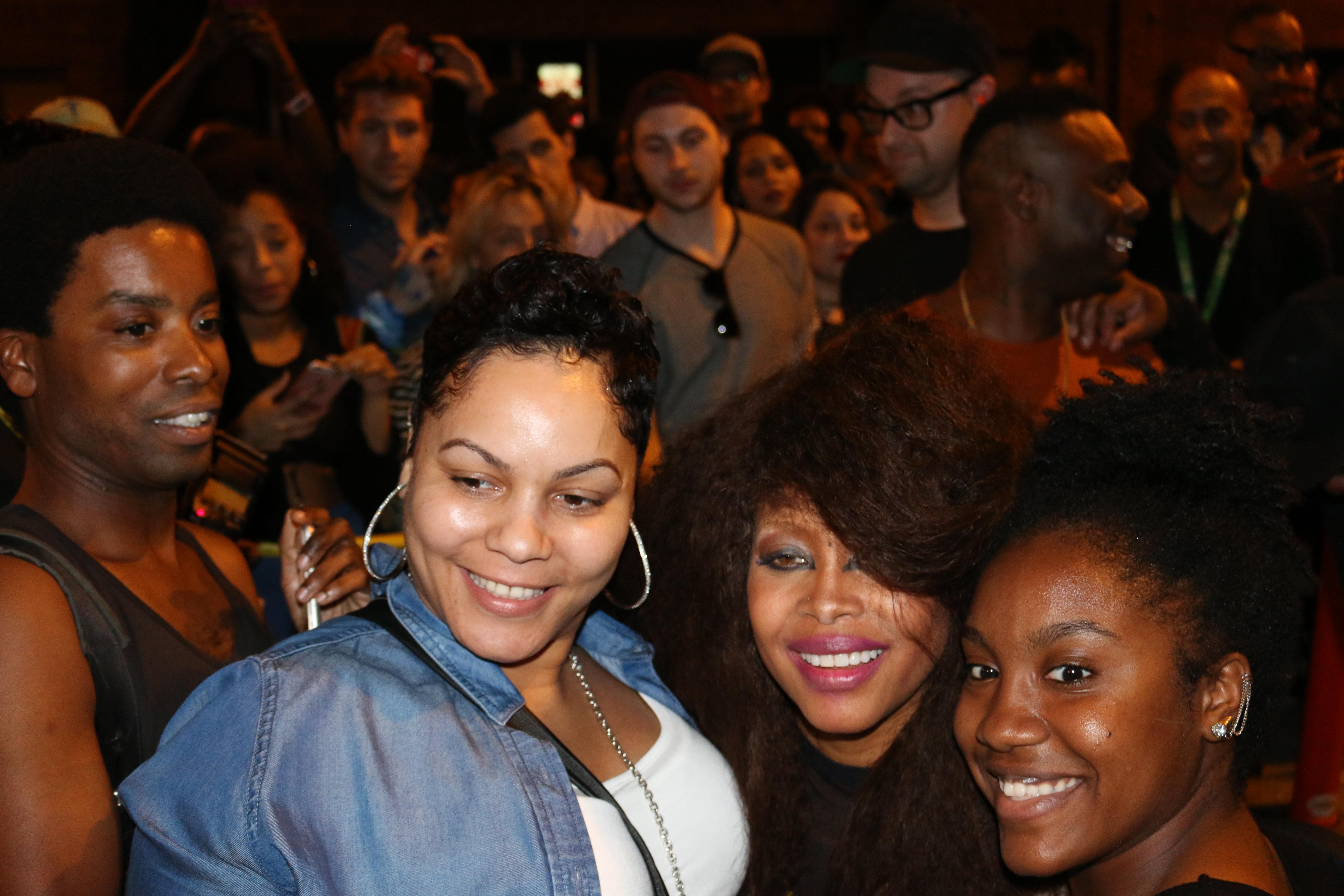 Erykah Badu and fans