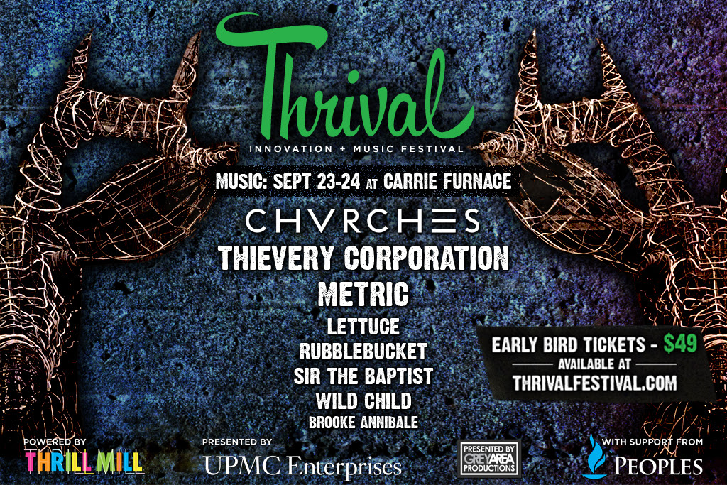 Thrival Festival Announces First Music Lineup, including CHVRCHES, Thievery Corporation, Metric, Lettuce,