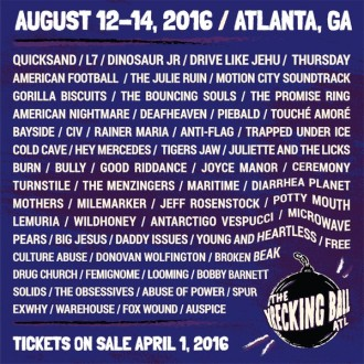 The Wrecking Ball ATL announces Deerhunter and The Joy Formidable