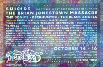 Desert Daze Phase One Lineup, including, Suicide, The Brian Jonestown Massacre, The Sonics