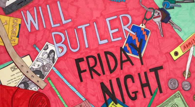 Will Butler announces live album 'Friday Night' the LP also features unreleased tracks. '
