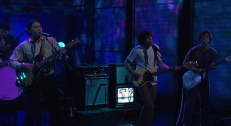 """Twin Peaks perform """"Walk To The One You Love"""" on Conan."""