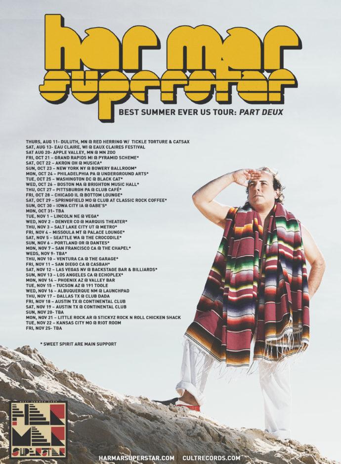 Har Mar Superstar announces 'Best Summer Ever US Tour: Part Deux'