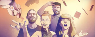 """CHVRCHES, have released a new animated video for new single """"Bury It (featuring Hayley Williams"""