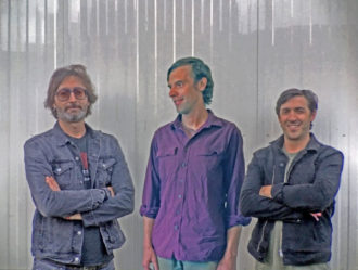 Pfarmers, Danny Seim (Menomena,) Bryan Devendorf (the National), and Dave Nelson (Sufjan Stevens) have streamed their new single
