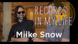 Miike Snow band member Andrew Wyatt, guests on 'Records In My Life