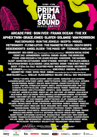Primavera Sound announce 2017 lineup including Arcade Fire, The xx, Bon Iver, Run The Jewels, Angel Olsen, and more