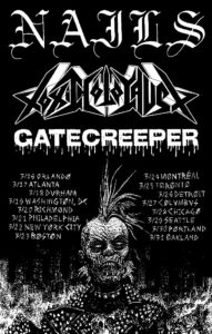 Nails announce North American tour dates with Toxic Holocaust and Gatecreeper