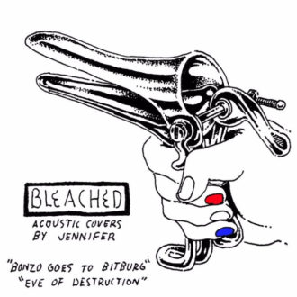 Bleached release acoustic covers of songs by The Ramones and Barry McGuire