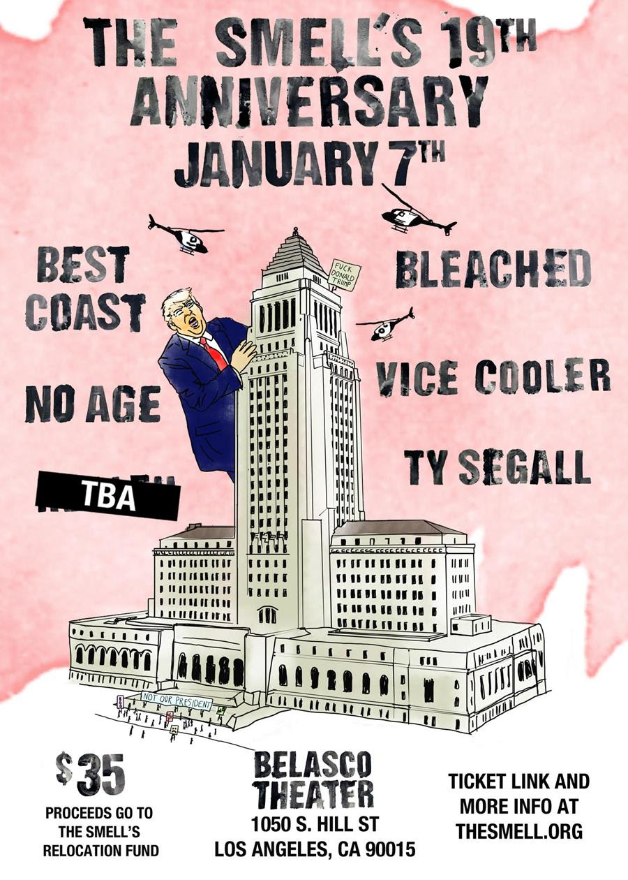 The Smell announces 19th anniversary weekend celebration, featuring No Age, Ty Segall, Best Coast, Bleached, and more!