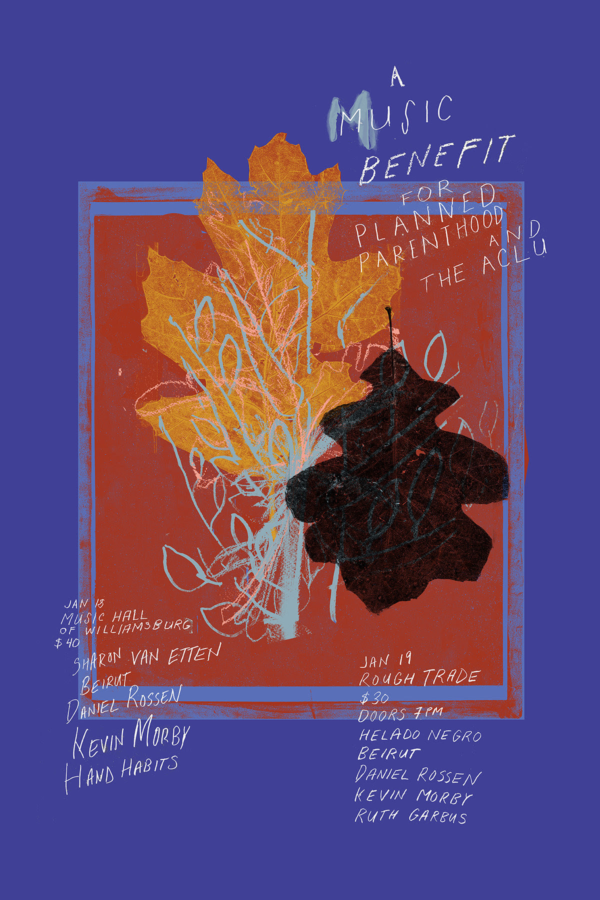 Sharon Van Etten, Beirut, Helado Negro, Kevin Morby And More Announce A Music Benefit For Planned Parenthood & The ACLU In New York City.
