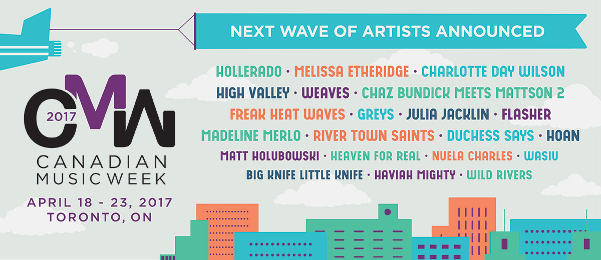 Canadian Music Week announces next wave of artists