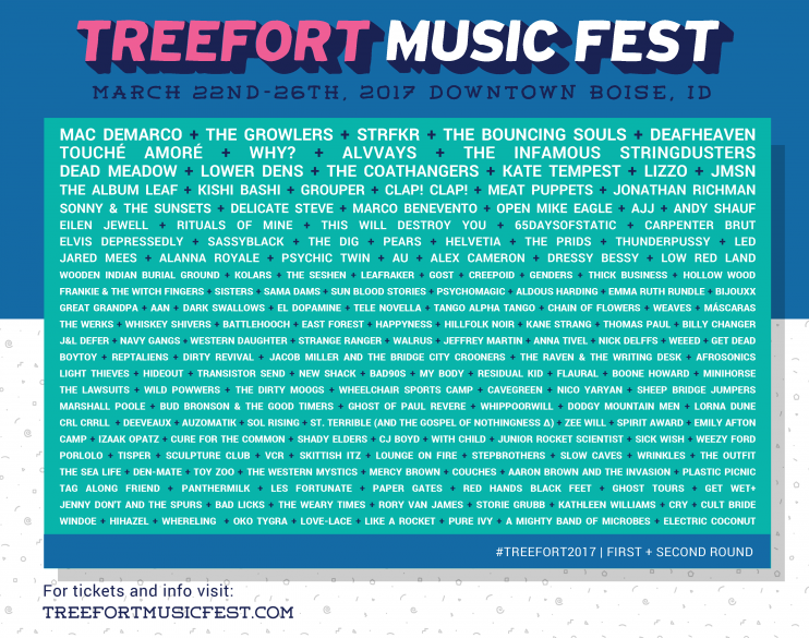 Treefort Music Fest announces second wave of artists for 2017