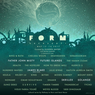 FORM Arcosanti announces 2017 lineup, including Solange, Father John Misty, and Future Islands