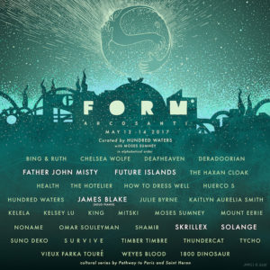 FORM Arcosanti announces schedule, artists taking part include Father John Misty, James Blake, Future Islands and more. FORM Arcosanti, takes place 5/12-14.