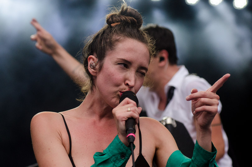 July Talk is seen here performing at the RBC Bluesfest in Ottawa on Tuesday, July 11, 2017. The RBC Bluesfest is ranked by Billboard as one of the most successful music events in North America.  ~ RBC Bluesfest Press Images PHOTO/Danyca MacDonald