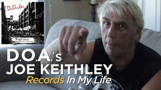 Joe Keithley from D.O.A. guests on 'Records In My Life.'