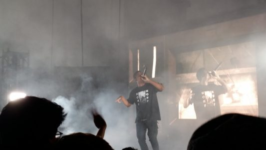 JPEGMAFIA and Chanell Tres at the Vancouver Convention Centre, in Vancouver, BC