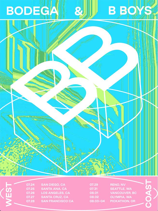 B Boys and Bodega have announced a co-headlining West Coast tour