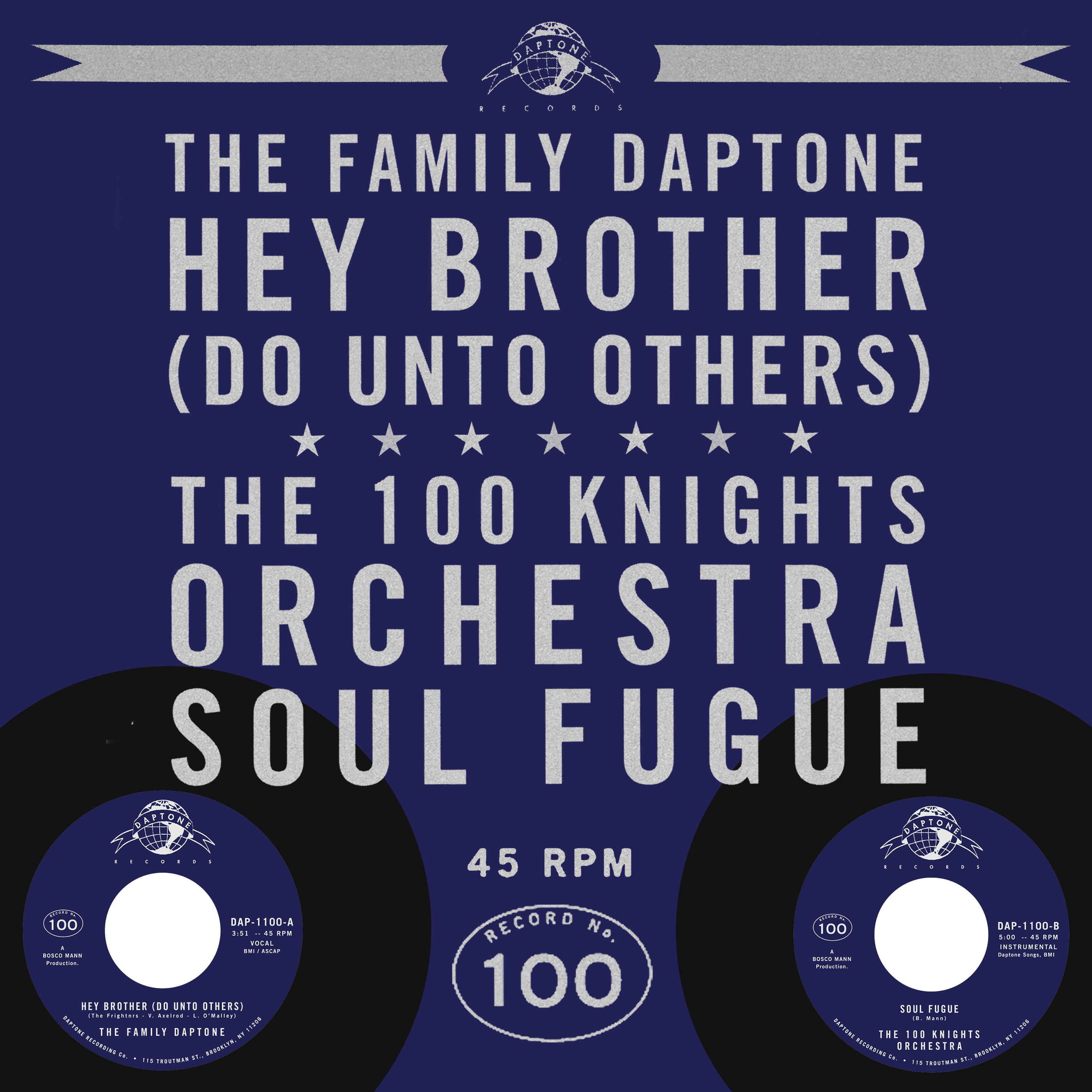 """Daptone Records has shared """"Hey Brother (Do Unto Others),"""" the A-side to their recently announced 100th 45. Available June 28, the 45 is a collaboration"""