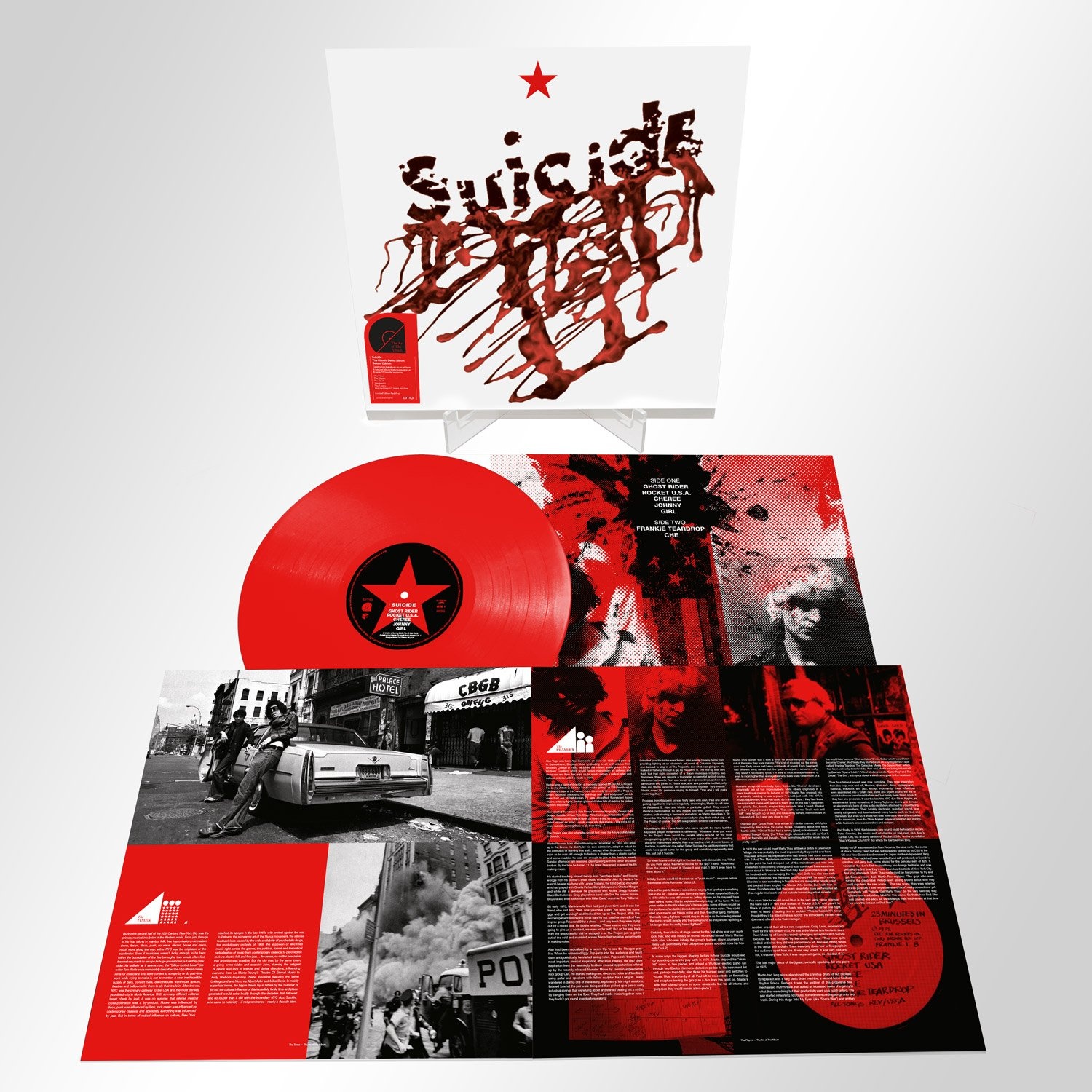 Suicide's debut album will be given the Art of the Album treatment and reissued on red vinyl, CD and digitally on July 26, 2019 via Mute/BMG
