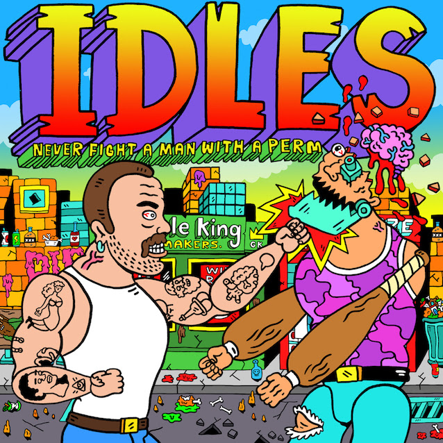 "IDLES have dropped a new animated video for ""Never Fight A Man With A Perm"""