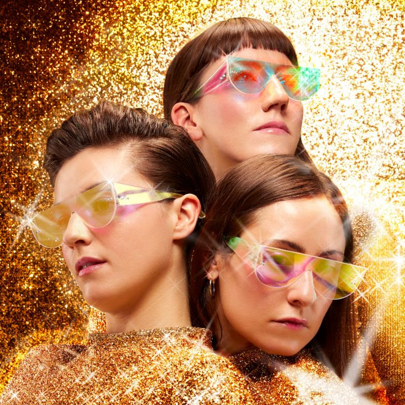 "UK trio Stealing Sheep, have released a technicolor lyric video for track ""True Colours"""