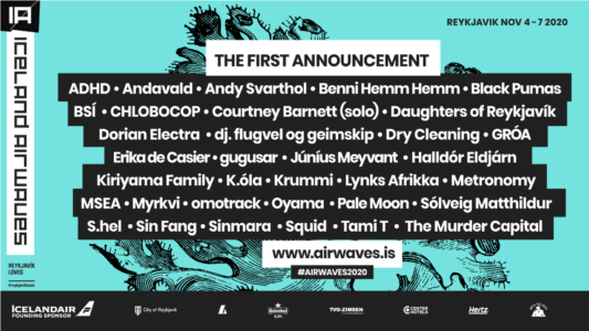 Iceland Airwaves 2020 announces first wave of artists