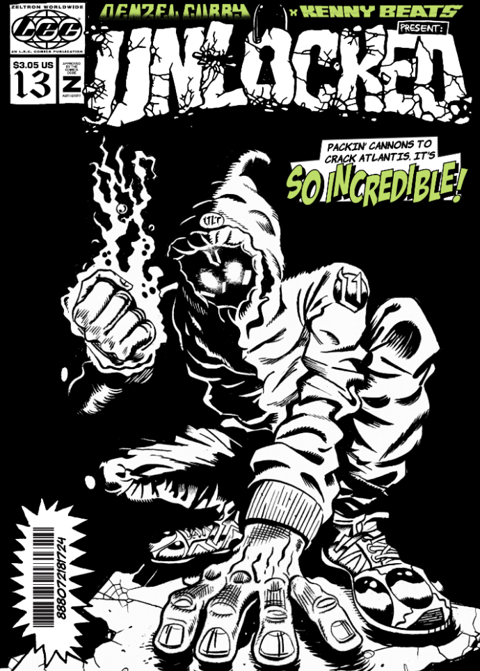Denzel Curry and Kenny Beats have announced a new comic book Unlocked