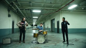 Muzz, will release their debut self-titled full-length on June 5th via Matador Records. The trio, comprised of Paul Banks, Josh Kaufman, and Matt Barrick