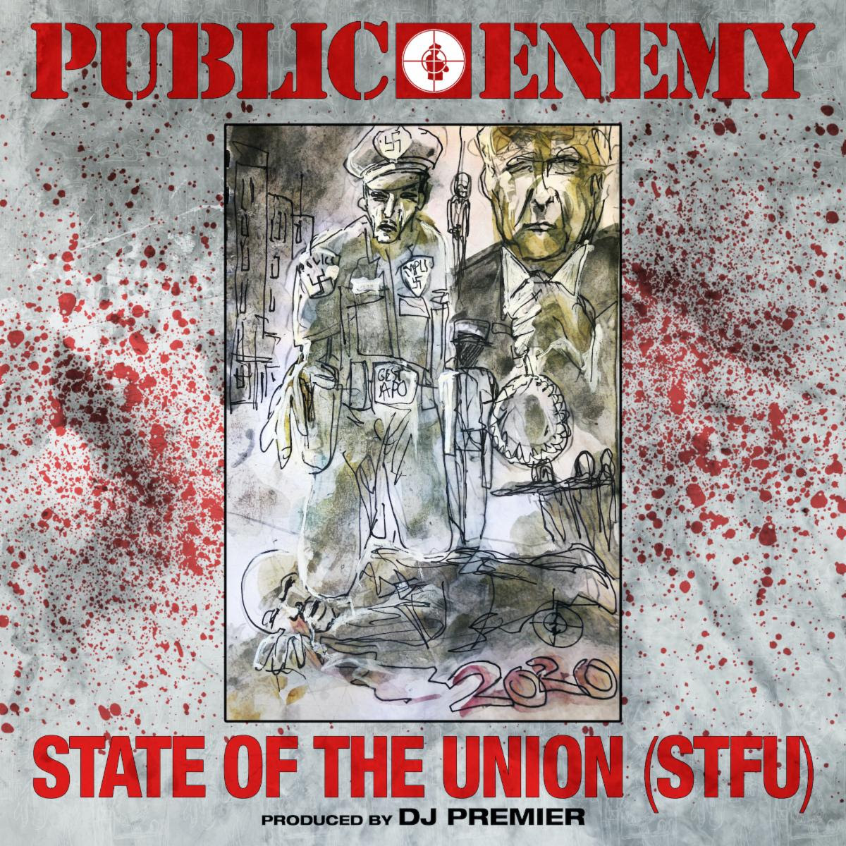 "Public Enemy have dropped a new song/video, entitled ""State of the Union (STFU)."" The track takes on on Donald Trump and his ""fascist regime"""