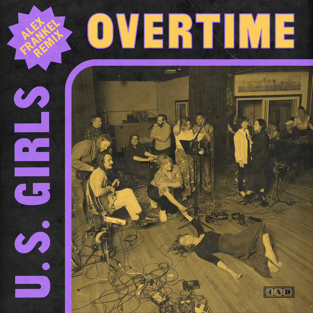 "U.S. Girls' single ""Overtime"", is available today, as a danceable remix by Holy Ghost's Alex Frankel. Frankel took on the tricky task of remixing"