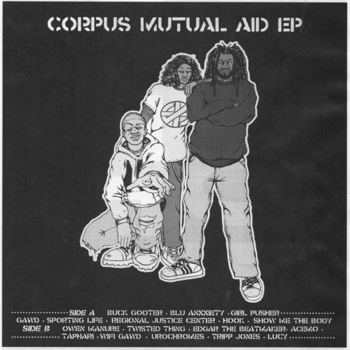 NYC collective CORPUS is releasing Side A of their Mutual Aid EP. The release includes songs from Show Me The Body, Sporting Life, Hook and more and arrives after