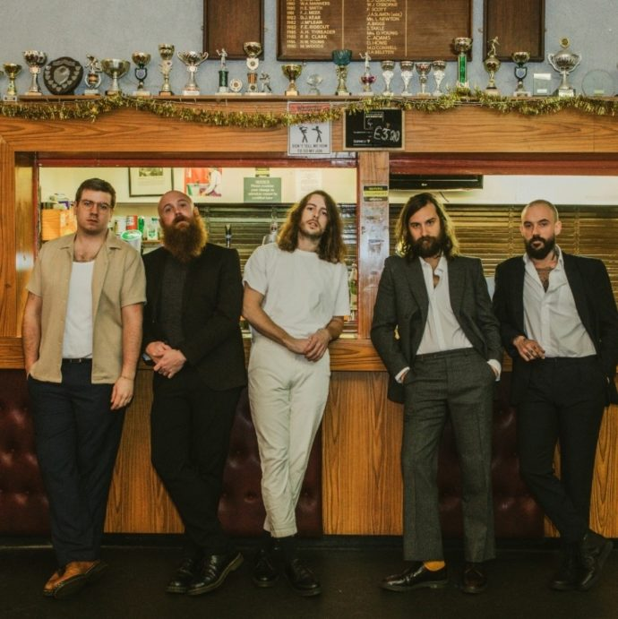 """IDLES have shared a new song """"A Hymn."""" The track is off the UK group's forthcoming LP, Ultra Mono, available September 25, via Partisan Records"""