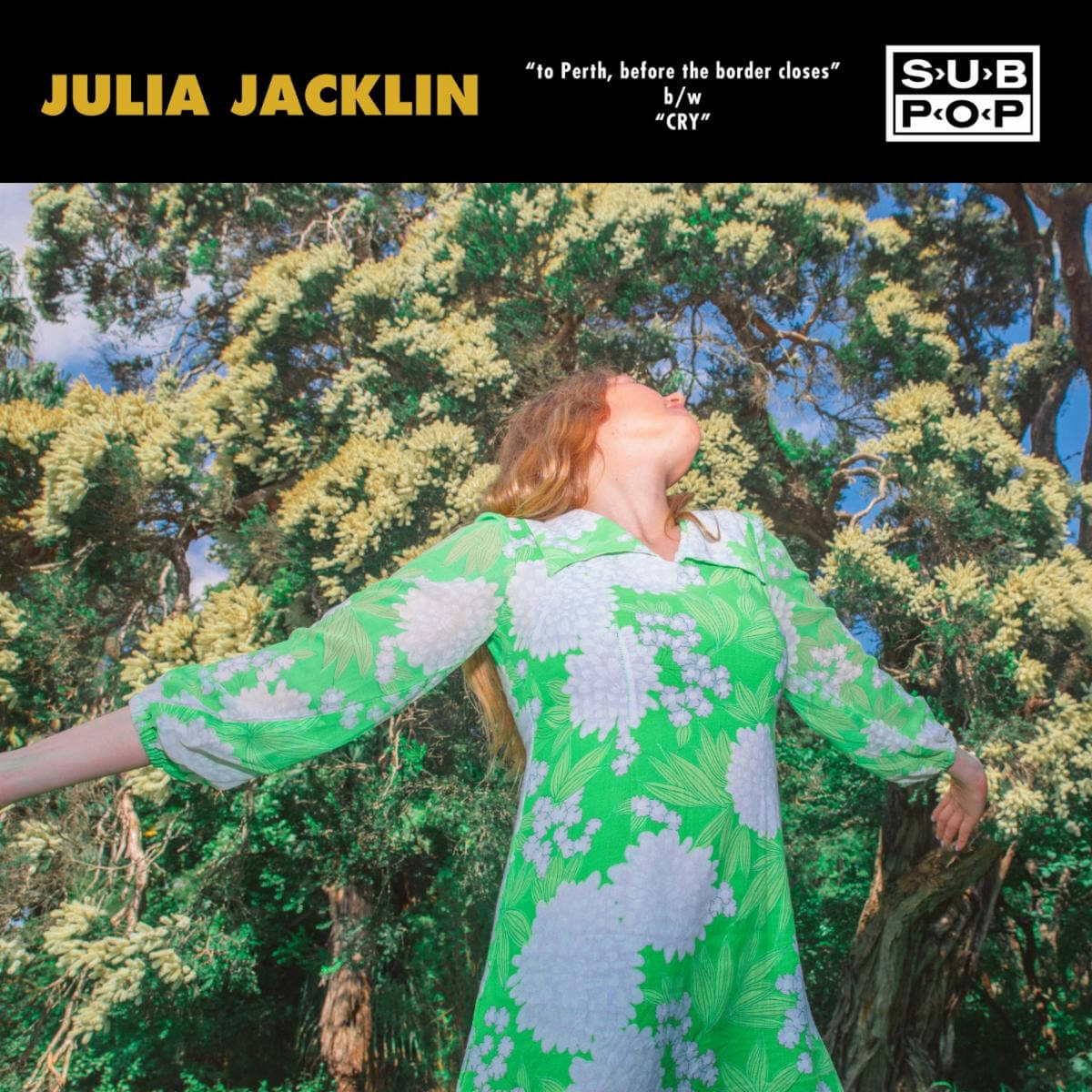 """Jacklin has released the New Singles """"to Perth, before the border closes"""" and """"Cry"""" For Sub Pop Singles Club"""