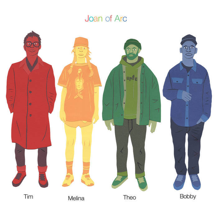 'Tim Melina Theo Bobby' by Joan Of Arc album review by Gregory Adams. The full-length comes out on December 4, via Joyful Noise Recordings