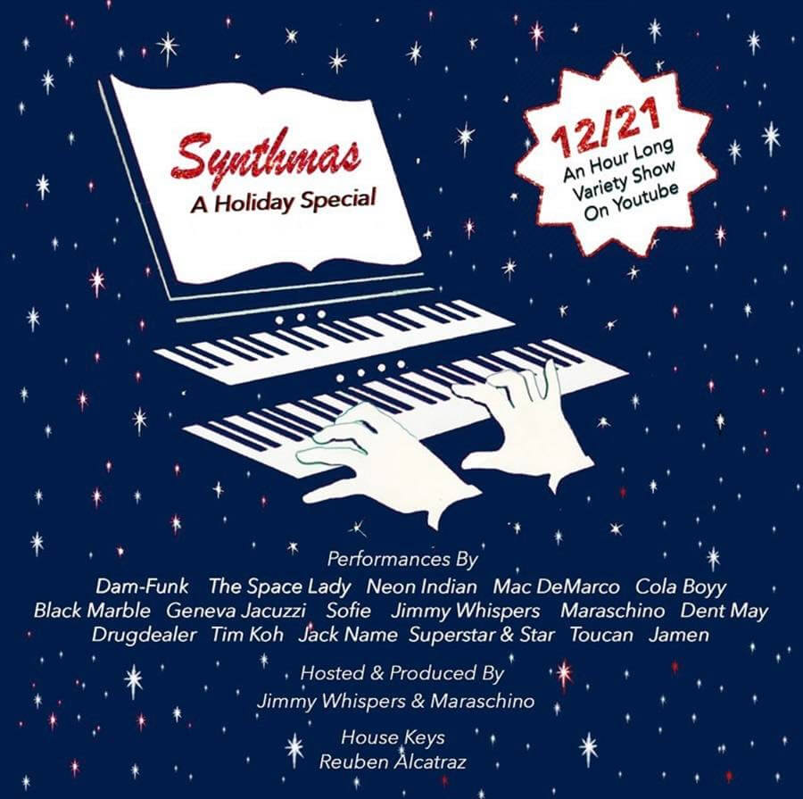 Neon Indian, Mac DeMarco, Drugdealer, Black Marble, Sofie & many more share new Holiday music for charity in new video compilation