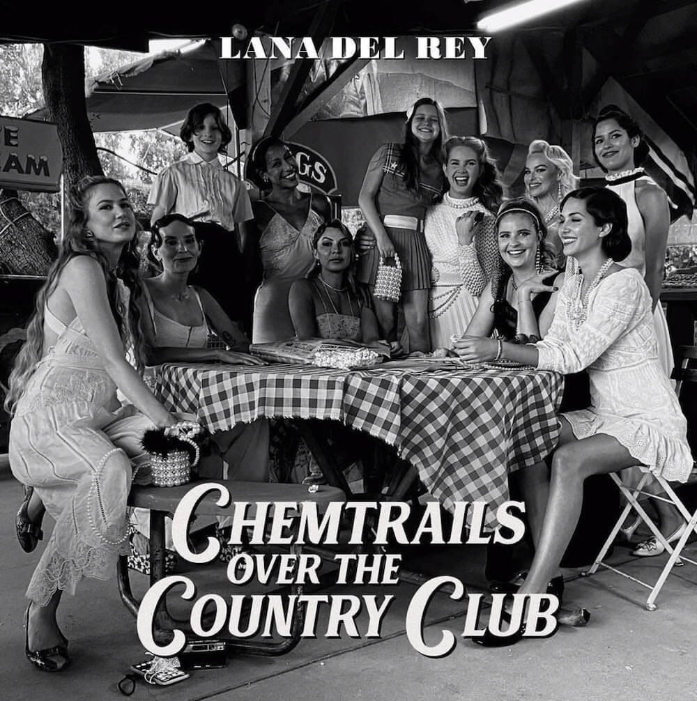 """Lana Del Rey has shared a new song and visual entitled """"Chemtrails Over The Country Club."""" The track was co-written by Lana Del Rey"""