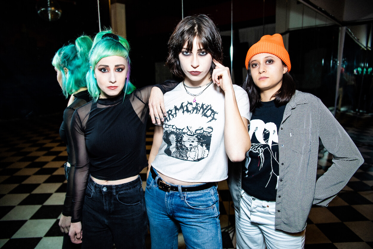 "Potty Mouth has released a new video for ""Let Go."" The clip features the trio's vocalist and guitarist Abby Weems as she ventures through"